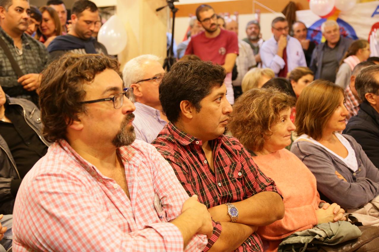 Sergio Salinas Porto de FeTIA/CTA, Diego Lencinas de CTA Autónoma y Graciela