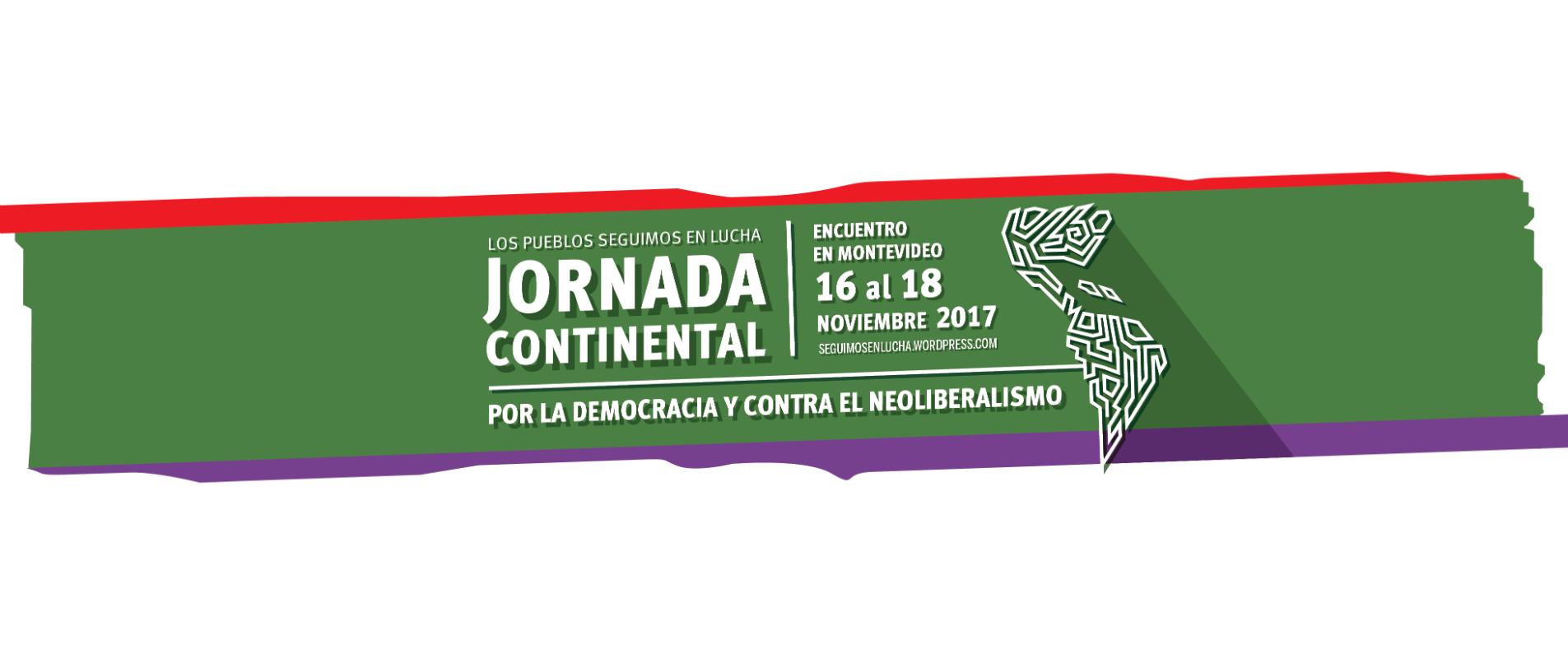 (IMAGEN) Jornada Continental por la Democracia y contra el neoliberalismo
