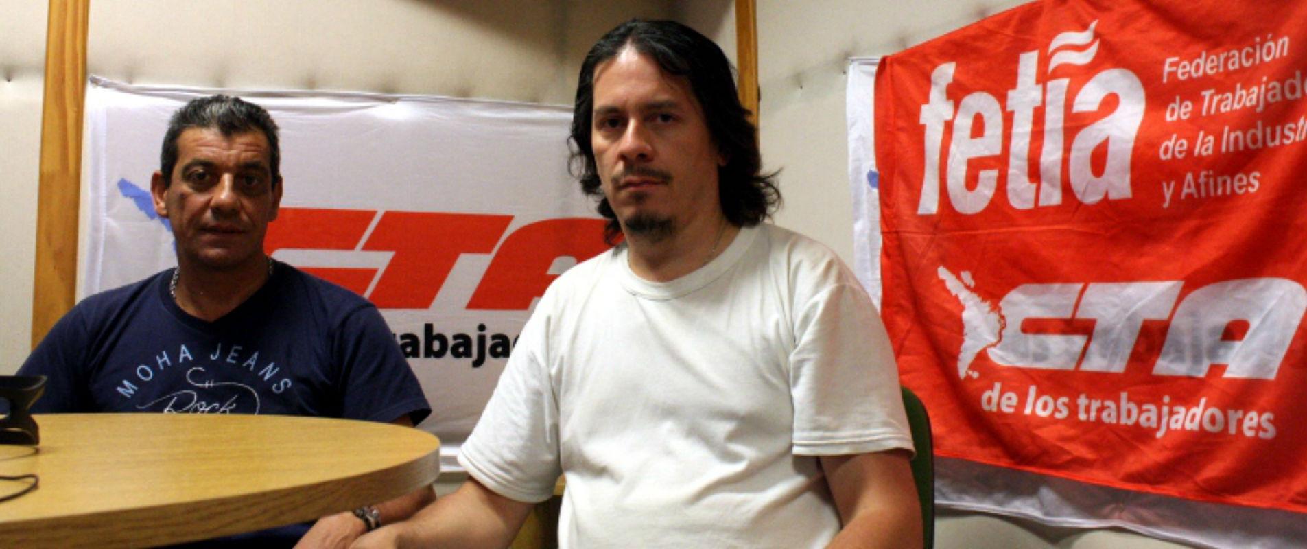 Sergio Parla Sec. Gral. de SEAT y Javier Sosa Secretario Organización