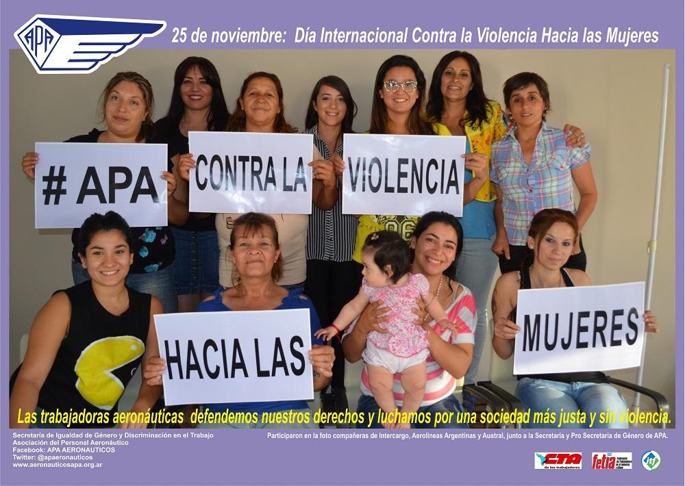 afiche contra la violencia a las mujeres