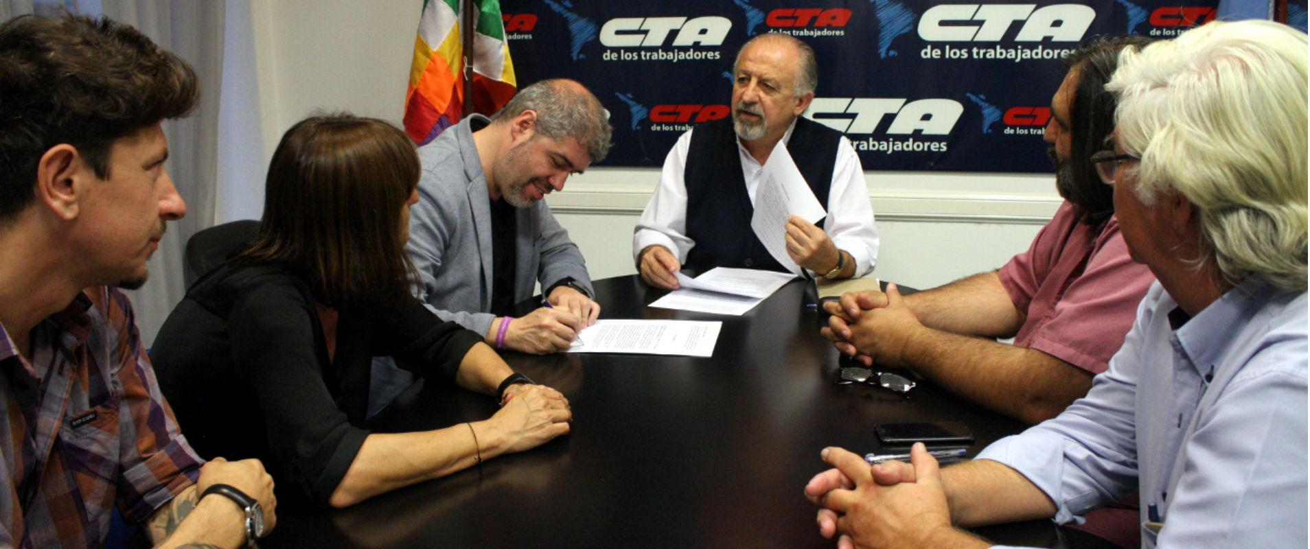 CTA firmó convenio con Comisiones Obreras de España