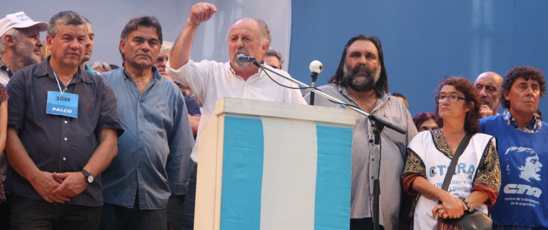"""Hugo Yasky: """"Estamos vivos y la Plaza es nuestra"""""""