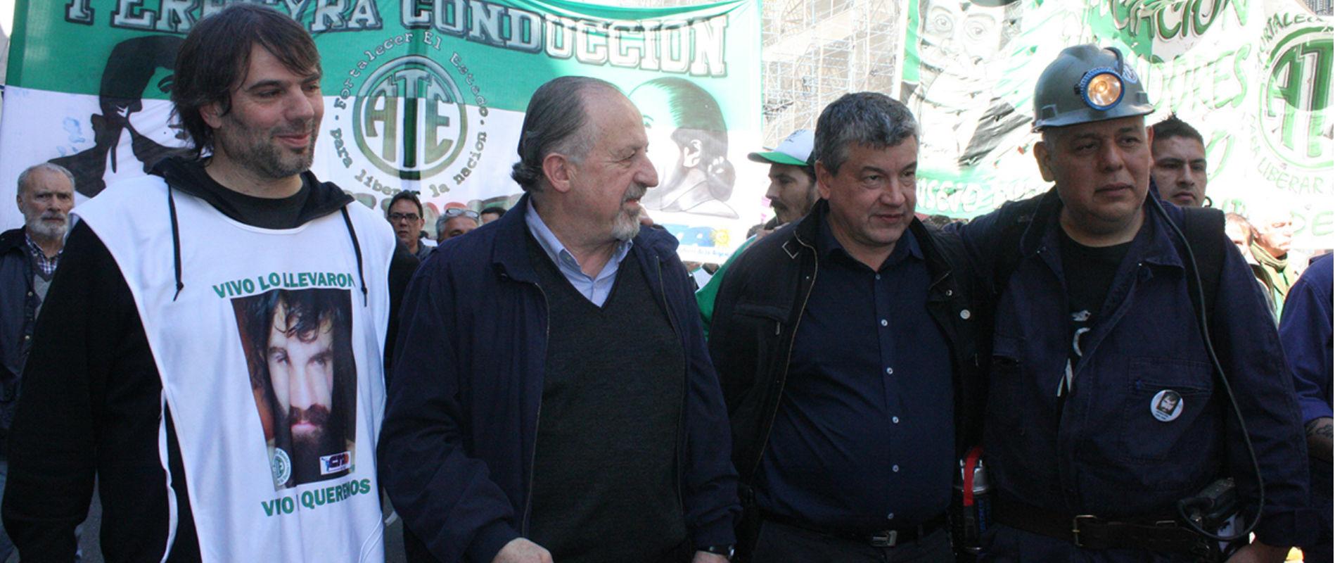 CTA marchó con los mineros de Río Turbio