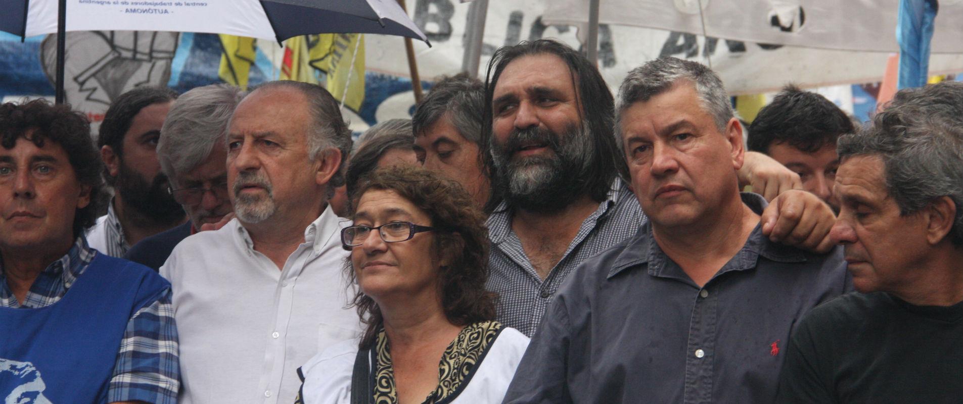 Michelli, Yasky,  Alesso, Baradel y Pedro Wasiejko