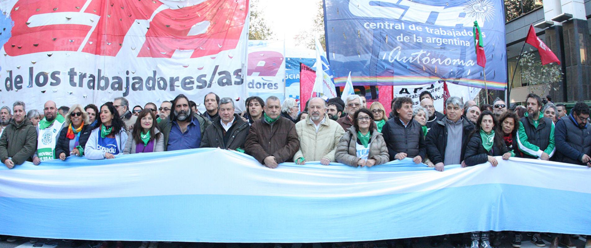 CONTRA LOS AJUSTES, LOS TARIFAZOS Y EL ACUERDO CON EL FMI
